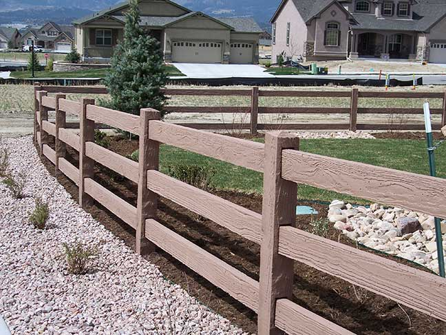 Concrete Fencing Ranch 3 Rail Fence